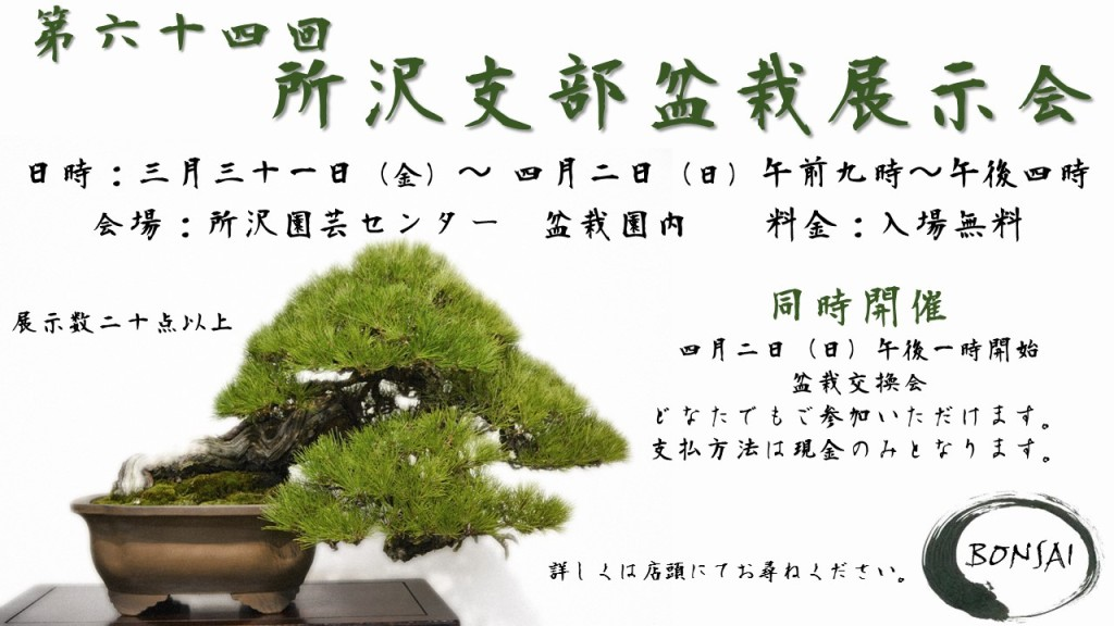所沢支部盆栽展示会